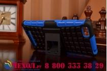 Противоударный усиленный ударопрочный чехол-бампер-пенал для xiaomi mi 4i/4с синий