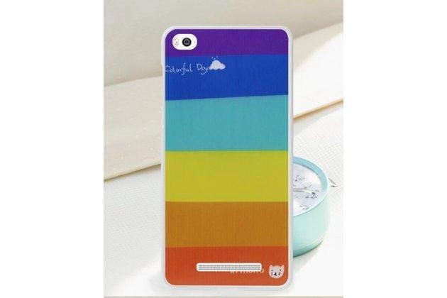 """Необычная из легчайшего и тончайшего пластика задняя панель-чехол-накладка для xiaomi mi 4i """"тематика все цвета радуги"""""""