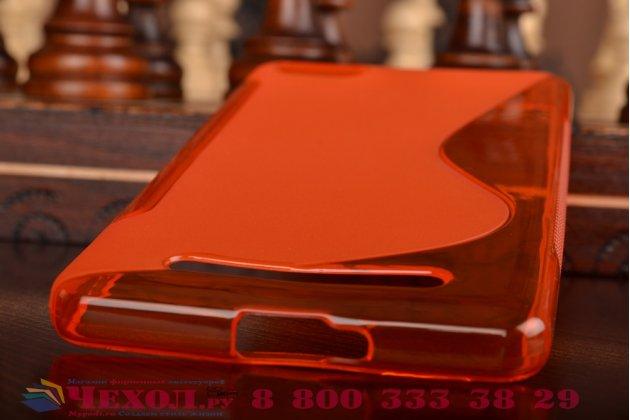 Ультра-тонкая полимерная из мягкого качественного силикона задняя панель-чехол-накладка для xiaomi mi 4i красная