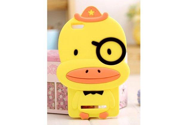 """Задняя панель-чехол-накладка с объёмным 3d изображением для xiaomi mi 4i  """"тематика веселый утенок"""" желтый"""