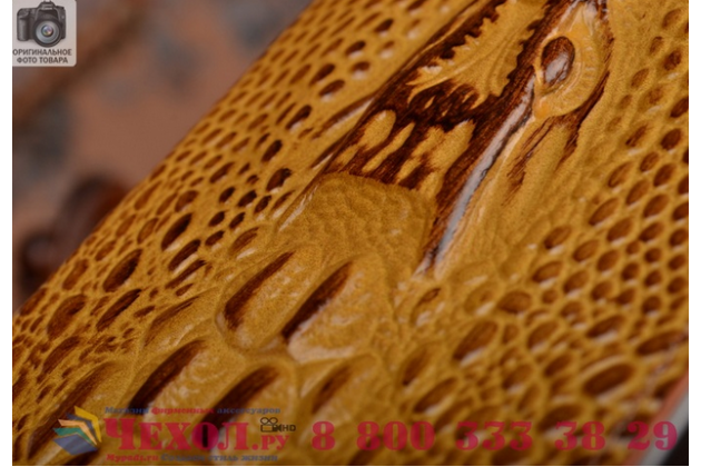 Роскошный эксклюзивный чехол с объёмным 3d изображением кожи крокодила коричневый для xiaomi mi5 plus . только в нашем магазине. количество ограничено