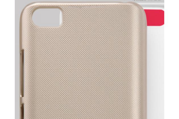 Задняя панель-крышка-накладка из тончайшего и прочного пластика для xiaomi mi5 золотая