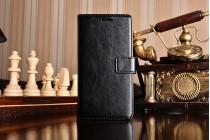 Чехол-книжка для xiaomi mi5  с визитницей и мультиподставкой черный кожаный