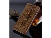 Фирменный роскошный эксклюзивный чехол с объёмным 3D изображением кожи крокодила коричневый для Xiaomi Mi5. То..
