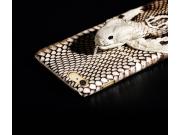 Фирменная роскошная экзотическая задняя панель-крышка с фактурной отделкой натуральной кожи с объёмным 3D изоб..