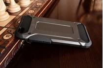 Противоударный усиленный ударопрочный чехол-бампер-пенал для xiaomi mi5 черный