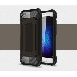Противоударный усиленный ударопрочный фирменный чехол-бампер-пенал для Xiaomi Mi5 черный