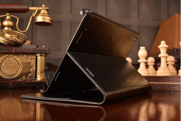 """Чехол бизнес класса для xiaomi mipad 7.9"""" с визитницей и держателем для руки черный натуральная кожа """"prestige"""" италия"""