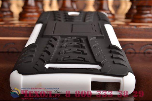 """Противоударный усиленный ударопрочный чехол-бампер-пенал для  xiaomi redmi note 2/ note 2 prime 5.5"""" белый"""