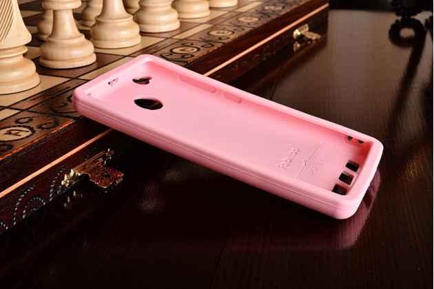 """Необычная уникальная полимерная мягкая задняя панель-чехол-накладка для xiaomi redmi 3 pro/ 3s 5.0 """"тематика андроид в клубничном шоколаде"""""""