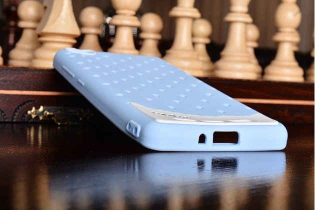 """Необычная уникальная полимерная мягкая задняя панель-чехол-накладка для xiaomi redmi 3 pro/ 3s 5.0 """"тематика андроид в черничном  шоколаде"""""""