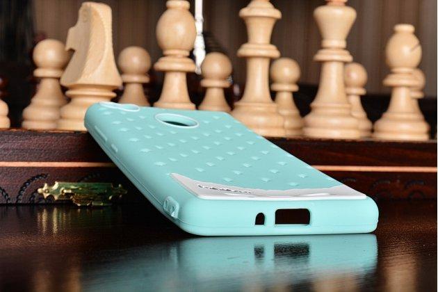 """Необычная уникальная полимерная мягкая задняя панель-чехол-накладка для xiaomi redmi 3 pro/ 3s 5.0 """"тематика андроид в мятном  шоколаде"""""""