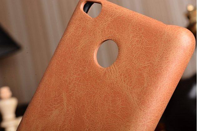 Роскошная элитная премиальная задняя панель-крышка для xiaomi redmi 3 pro/ 3s 5.0 из качественной кожи буйвола коричневый