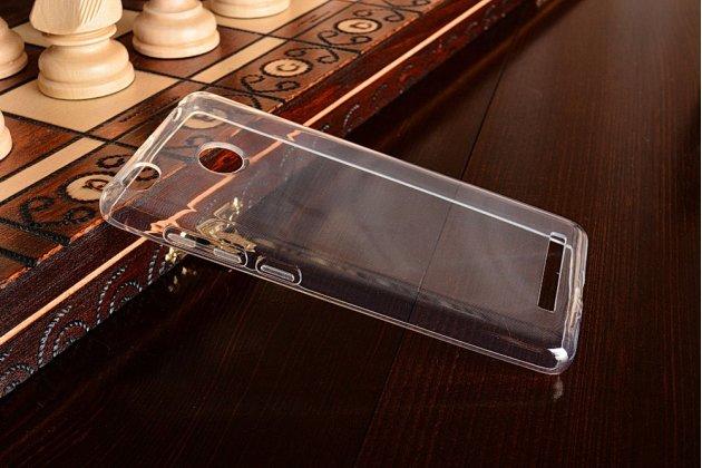 Ультра-тонкая полимерная из мягкого качественного силикона задняя панель-чехол-накладка для xiaomi redmi 3 pro/ 3s 5.0 прозрачная