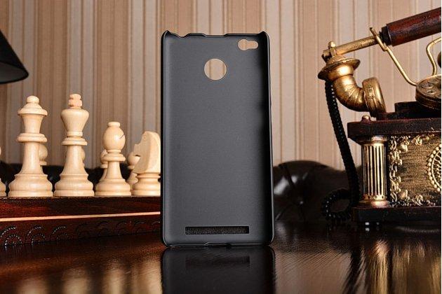 Задняя панель-крышка-накладка из тончайшего и прочного пластика для xiaomi redmi 3 pro/ 3s 5.0 черная