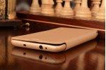 Фирменный чехол-футляр-книжка для Xiaomi Redmi Note 3 Pro SE (Special Edition) / 152.5 мм / Android 6.0 золотой кожаный
