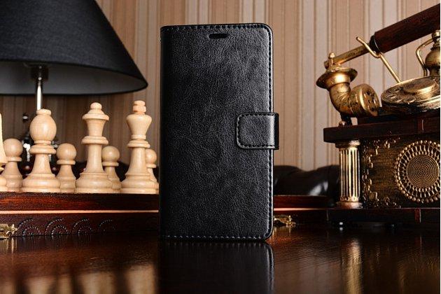 Чехол-книжка для xiaomi redmi 3 pro/ 3s 5.0 с визитницей и мультиподставкой черный кожаный