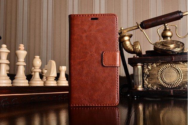 Чехол-книжка для xiaomi redmi 3 pro/ 3s 5.0 с визитницей и мультиподставкой коричневый кожаный
