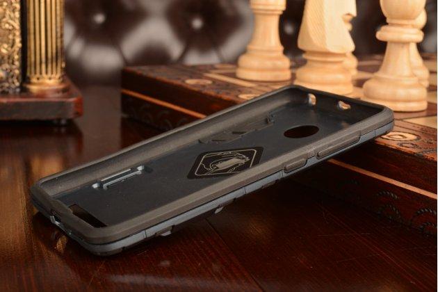 Задняя противоударная панель-крышка-накладка из прочного пластика для xiaomi redmi 3 pro/ 3s 5.0  черная