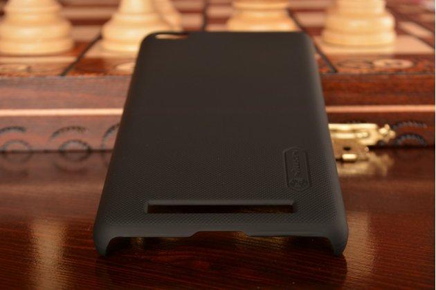 Задняя панель-крышка-накладка из тончайшего и прочного пластика для xiaomi redmi 3/3x 5.0  черная