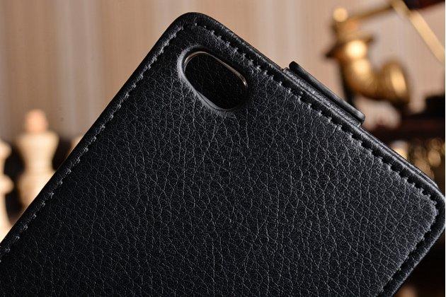 """Вертикальный откидной чехол-флип для  xiaomi redmi 3/3x 5.0"""" черный кожаный"""