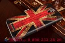 """Чехол-книжка с рисунком на тему """"ретро британский флаг"""" на xiaomi redmi note 2/ note 2 prime 5.5  с окошком для звонков"""