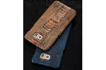 Элегантная экзотическая задняя панель-крышка с фактурной отделкой натуральной кожи крокодила кофейного цвета для xiaomi redmi note 2. только в нашем магазине. количество ограничено.