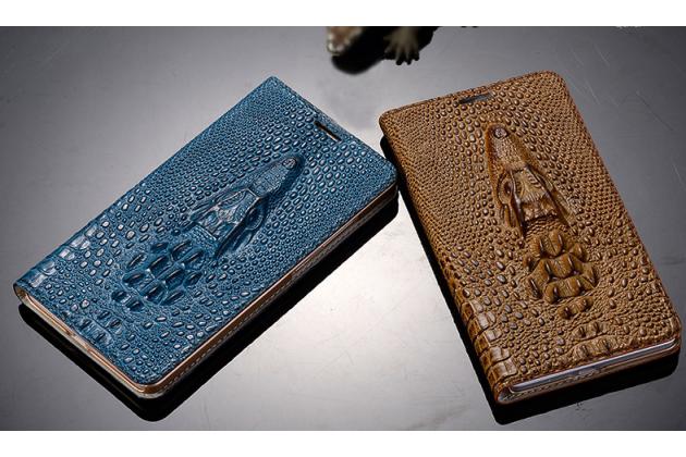 Роскошный эксклюзивный чехол с объёмным 3d изображением кожи крокодила коричневый для xiaomi redmi note 2. только в нашем магазине. количество ограничено