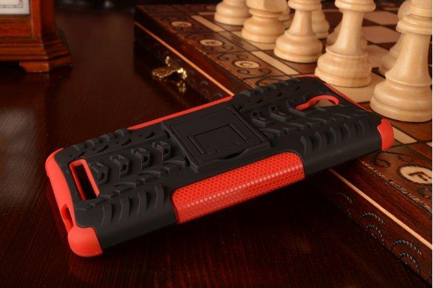 """Противоударный усиленный ударопрочный чехол-бампер-пенал для xiaomi redmi note 2/ note 2 prime 5.5"""" красный"""