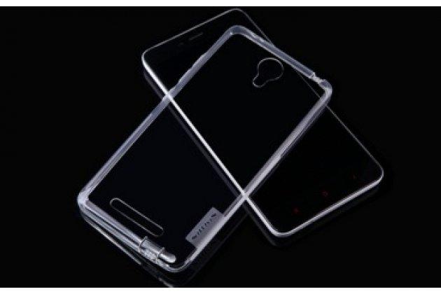 """Ультра-тонкая полимерная из мягкого качественного силикона  с заглушками задняя панель-чехол-накладка для xiaomi redmi note 2/ note 2 prime 5.5"""" серебристая"""