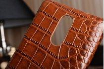 Элегантная экзотическая задняя панель-крышка с фактурной отделкой натуральной кожи крокодила кофейного цвета для xiaomi redmi note 3. только в нашем магазине. количество ограничено.