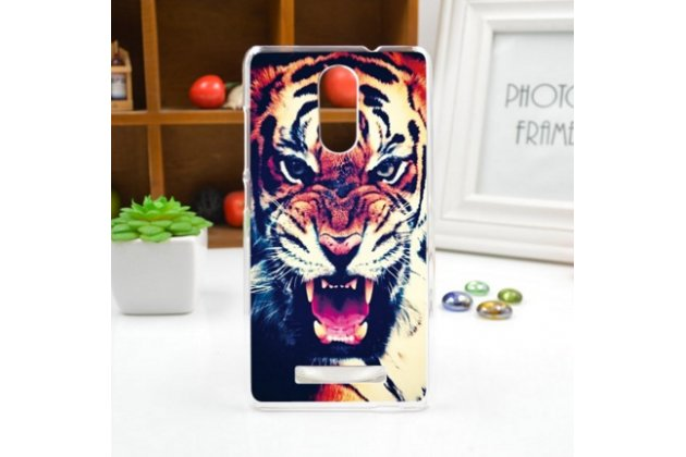 """Необычная из легчайшего и тончайшего пластика задняя панель-чехол-накладка для xiaomi redmi note 3 /xiaomi redmi note 2 pro 5.5"""" """"тематика тигр"""""""