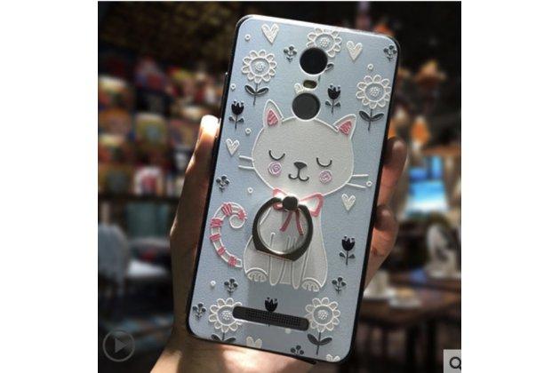 """Необычная из легчайшего и тончайшего пластика задняя панель-чехол-накладка для  xiaomi redmi note 3 /xiaomi redmi note 2 pro 5.5"""" """"тематика котик"""""""