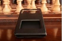 """Чехол-книжка для xiaomi redmi note 3 /xiaomi redmi note 2 pro 5.5""""  черный с окошком для входящих вызовов и свайпом водоотталкивающий"""