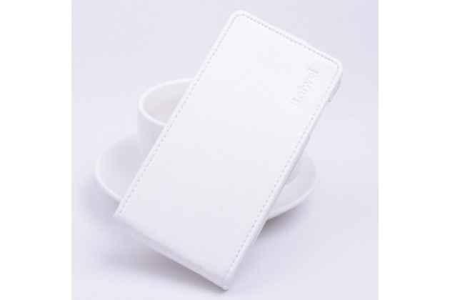 """Вертикальный откидной чехол-флип для xiaomi redmi note 3 /xiaomi redmi note 2 pro 5.5"""" """" белый кожаный """"prestige"""" италия"""