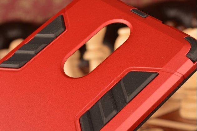 """Противоударный усиленный ударопрочный чехол-бампер-пенал для xiaomi redmi note 3 /xiaomi redmi note 2 pro 5.5"""" красный"""
