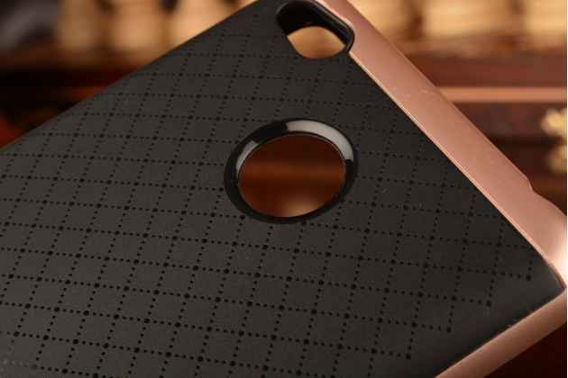 """Задняя панель-крышка из тончайшего мягкого силикона для xiaomi redmi 3 pro/ 3s 5.0 с матовой отделкой """"под карбон"""" розовое золото"""