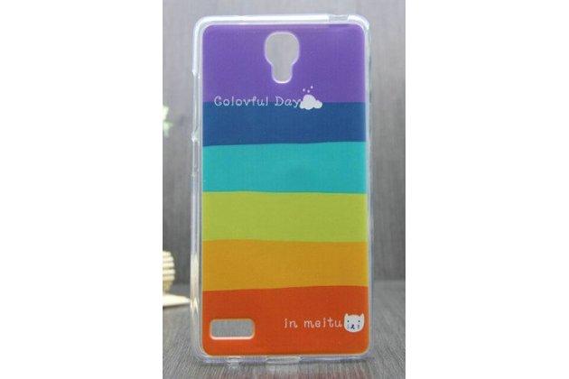 """Необычная из легчайшего и тончайшего пластика задняя панель-чехол-накладка для xiaomi redmi note """"тематика все цвета радуги"""""""