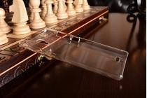 Ультра-тонкая полимерная из мягкого качественного пластика задняя панель-чехол-накладка для xiaomi redmi note прозрачная
