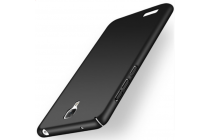 Задняя панель-крышка-накладка из тончайшего и прочного пластика для xiaomi redmi note черная