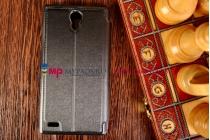 Чехол-книжка для xiaomi redmi note enhanced/standart черный кожаный с окошком для входящих вызовов