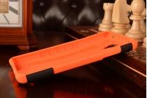 Противоударный усиленный ударопрочный чехол-бампер-пенал для xiaomi redmi note 1 /hongmi note оранжевый