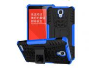 Противоударный усиленный ударопрочный чехол-бампер-пенал для xiaomi redmi note/hongmi note синий