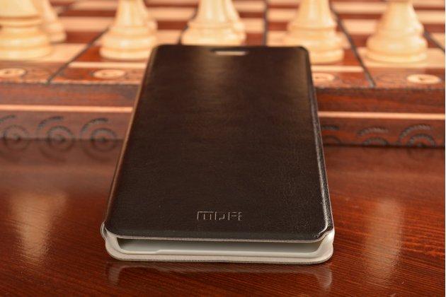 Чехол-книжка из качественной водоотталкивающей импортной кожи на жёсткой металлической основе для xiaomi mi note/mi note pro черный