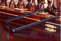 Ультра-тонкий чехол-бампер для xiaomi redmi note enhanced/standart черный металлический
