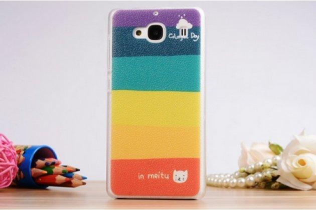 """Необычная из легчайшего и тончайшего пластика задняя панель-чехол-накладка для xiaomi hongmi 2 2a/ redmi 2 / redmi 2 pro 4.7"""" """"тематика все цвета радуги"""""""