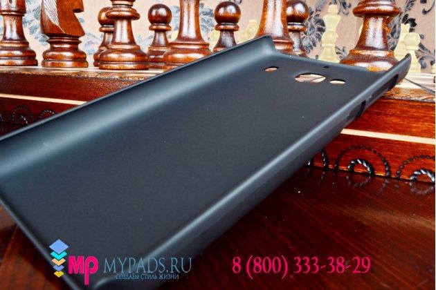 """Задняя панель-крышка-накладка из тончайшего и прочного пластика для xiaomi hongmi 2 2a/ redmi 2 / redmi 2 pro 4.7"""" черная"""