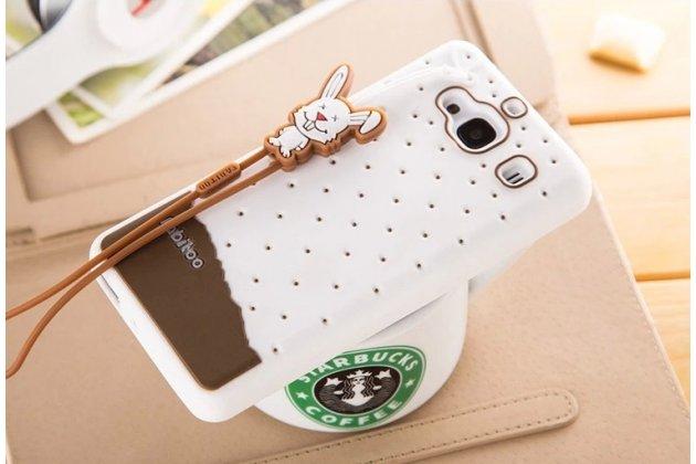 """Необычная уникальная полимерная мягкая задняя панель-чехол-накладка для xiaomi hongmi 2 2a/ redmi 2 / redmi 2 pro 4.7"""" """"тематика андроид в белом шоколаде"""""""
