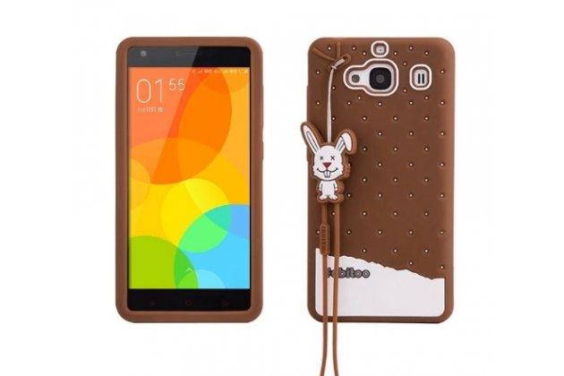 """Необычная уникальная полимерная мягкая задняя панель-чехол-накладка для xiaomi hongmi 2 2a/ redmi 2 / redmi 2 pro 4.7"""" """"тематика андроид в тёмном шоколаде"""""""