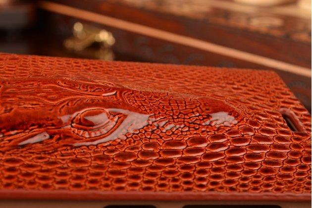 Роскошный эксклюзивный чехол с объёмным 3d изображением кожи крокодила коричневый для xiaomi mi3. только в нашем магазине. количество ограничено